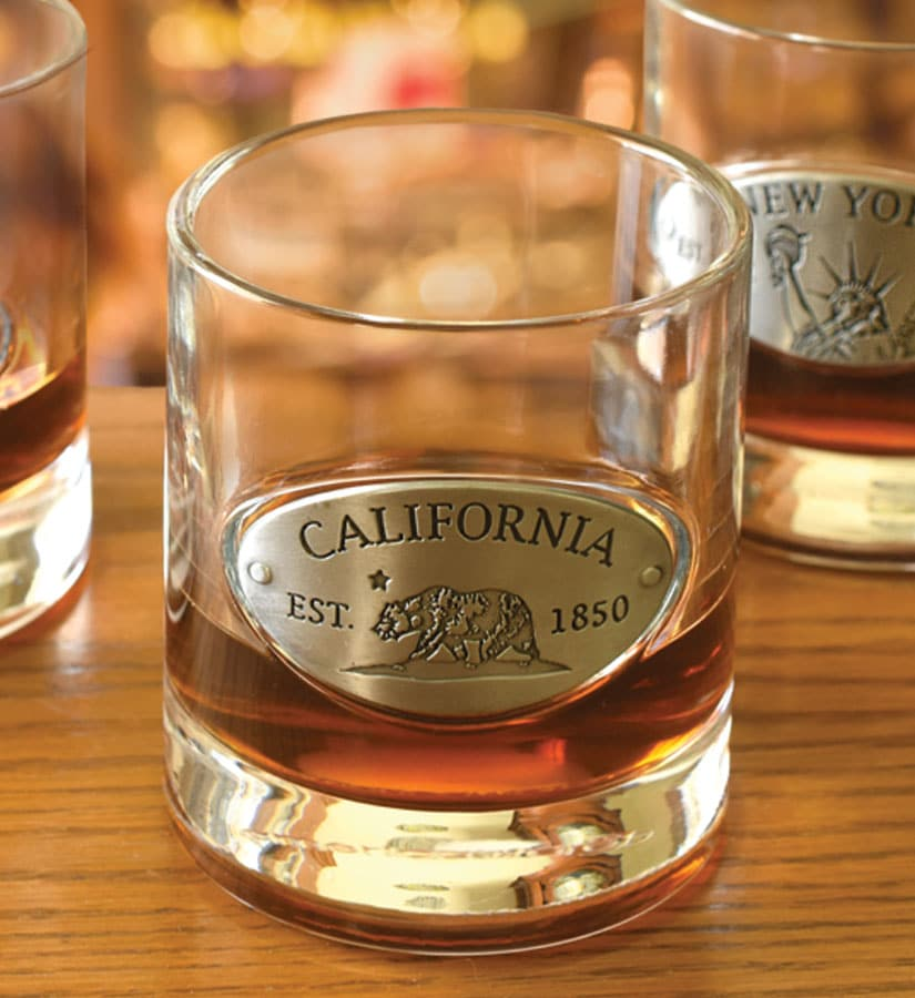 Whiskey Glass with Medallion