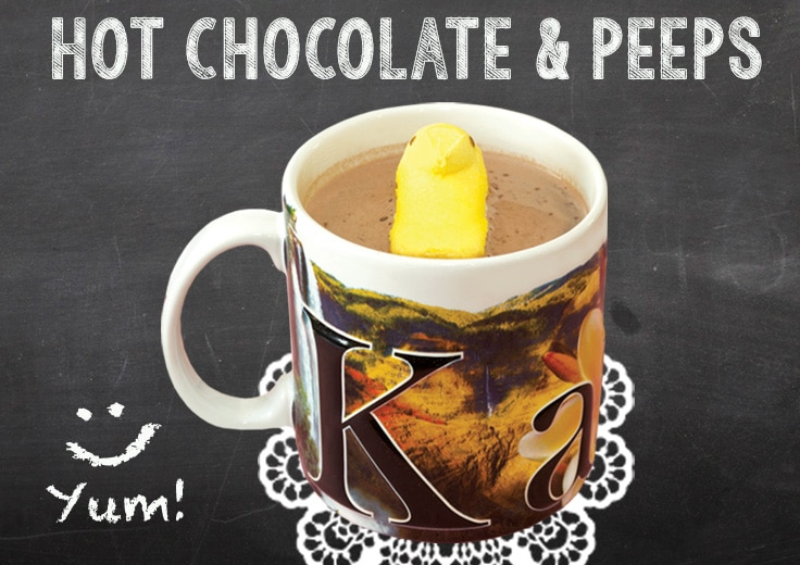 Hot Coco and Peeps