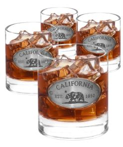 California 4 Whiskey Glasses
