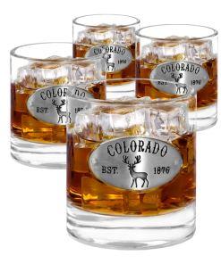 Colorado 4 Whiskey Glasses