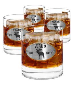 Idaho 4 Whiskey Glasses