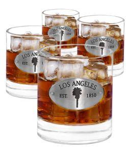 Los Angeles 4 Whiskey Glasses
