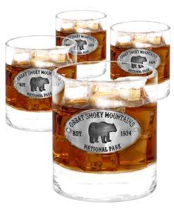 Smoky Mountains 4 Whiskey Glasses