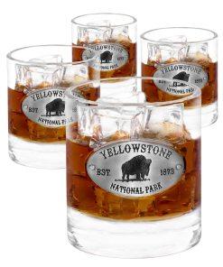 Yellowstone 4 Whiskey Glasses
