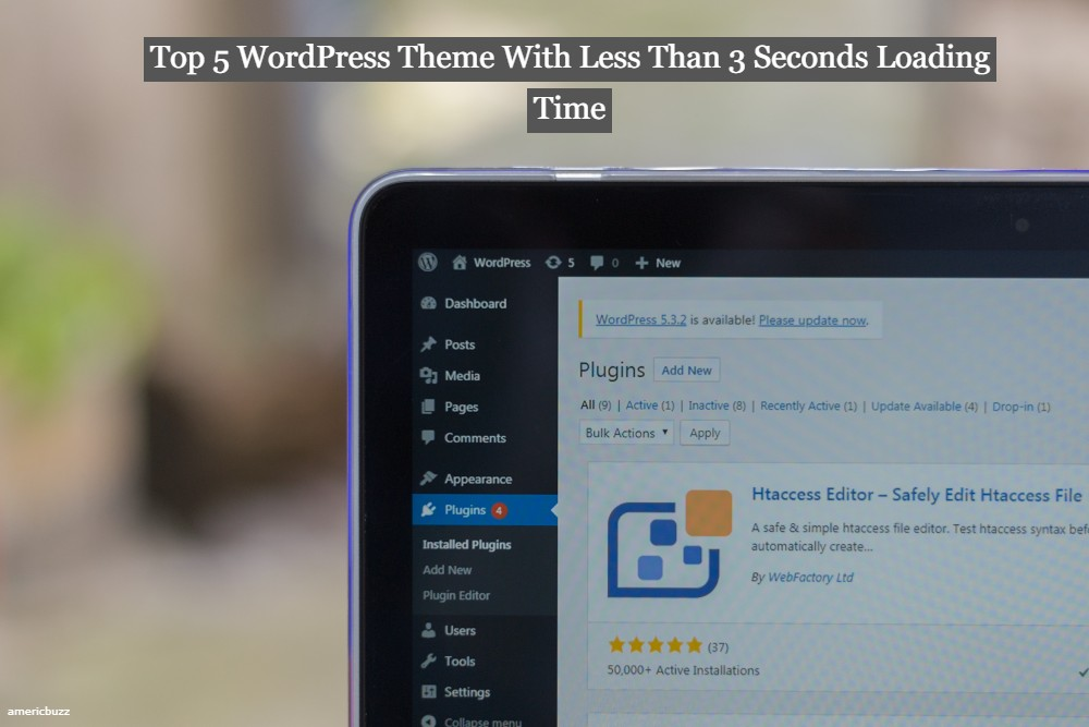 Top 5 WordPress Theme With Less Than 3 Seconds Loading Time