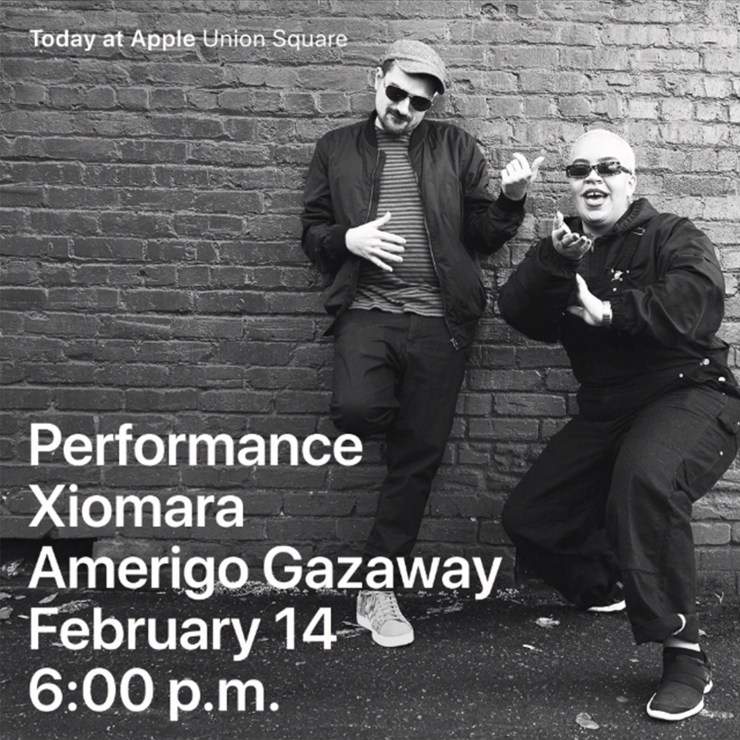 Xiomara & Amerigo Gazaway at Apple Store SF