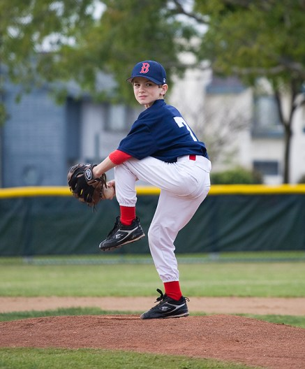 Aaron pitching