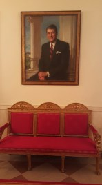 Ronald Reagan painting at the White House