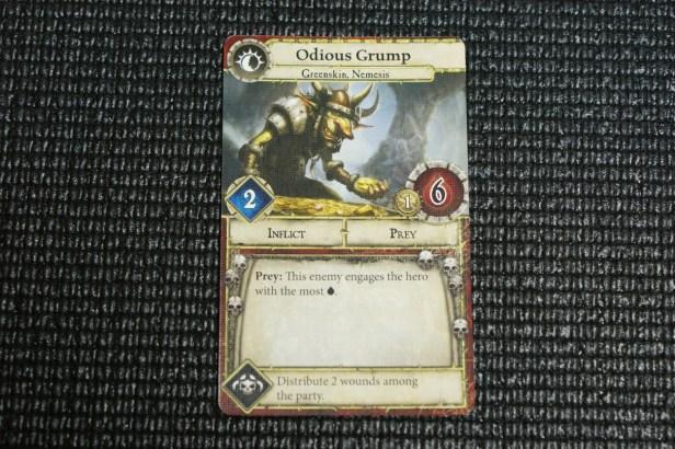 Nemesis 1, Odious Grump. Odious heeft als Nemesis effect dat de Party twee wonden moet verdelen.