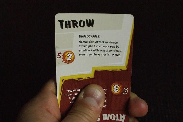 Deze speler kiest om een Throw uit te voeren.