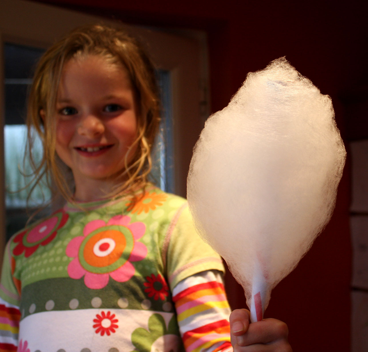 holding candyfloss