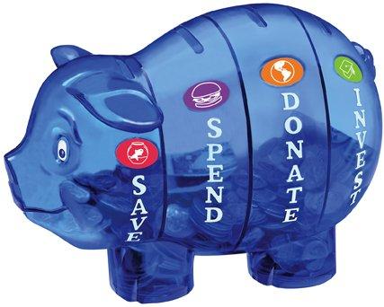 money saving pig to teach kids about money