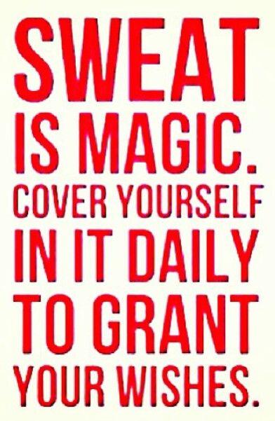 weight loss motivation - sweat is magic