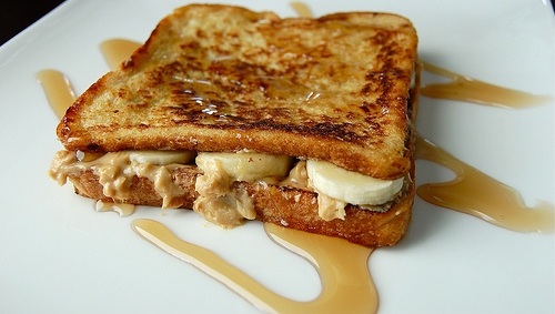 nut butter and banana french toast