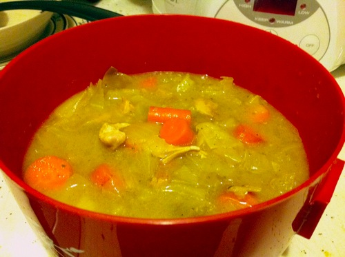 Chicken and apple stew cooked