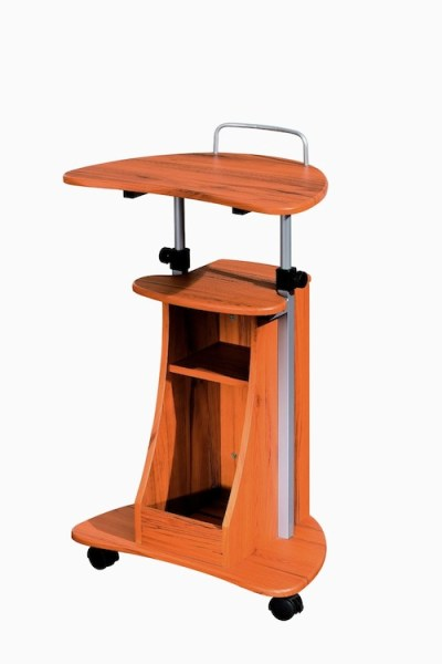 standing desk - mobile laptop cart with storage