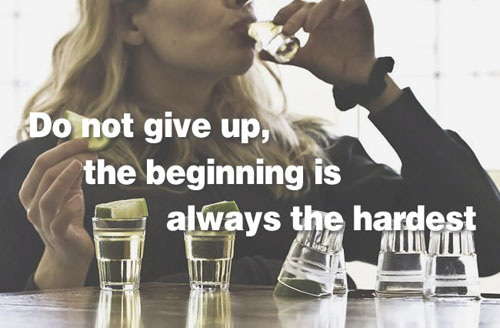 fitness quotes over pictures of drinking