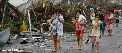 phillipines typhoon disaster relief for kids