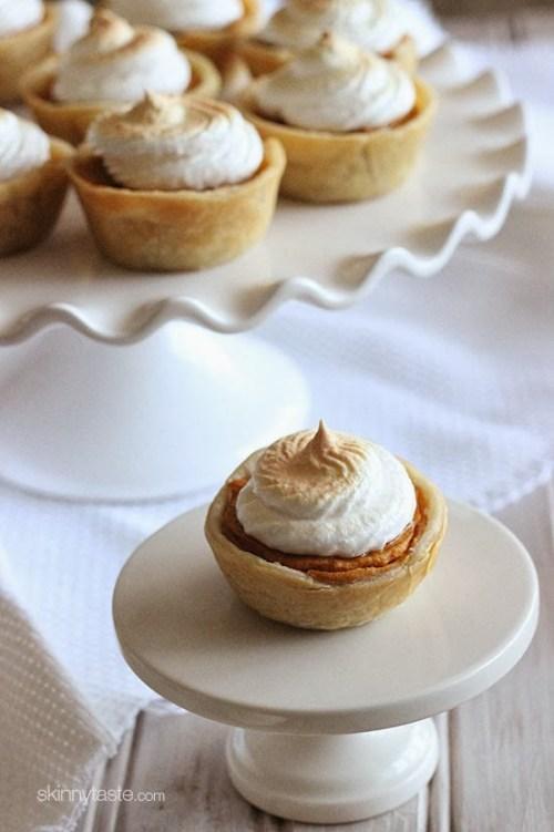Mini Sweet Potato Meringue Pies - healthy thanksgiving desserts
