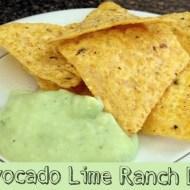 Avocado Lime Ranch Dip Recipe