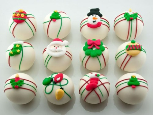 christmas themed cake balls