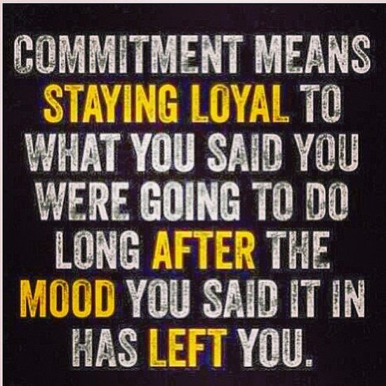 fitness motivation quote - commitment