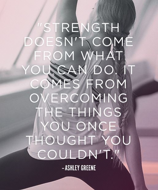 Fitness Motivation Quote Strength
