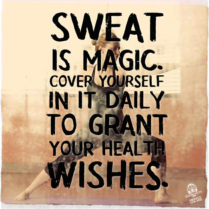 fitness motivation quote - sweat is magic