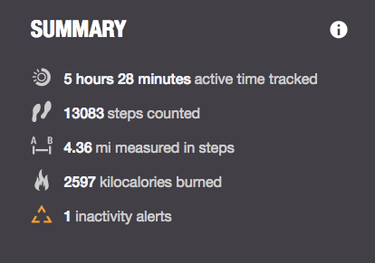 monday steps with polar loop