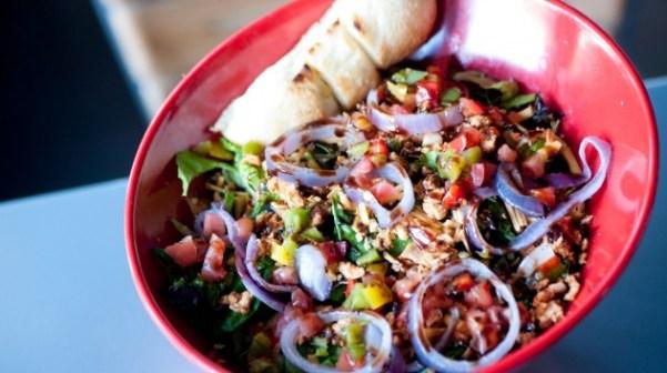 pyros pizza salad