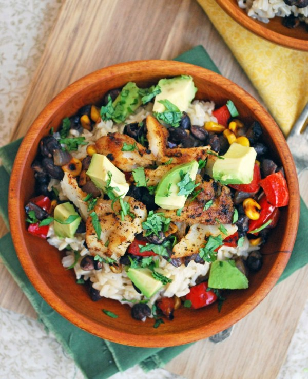 healthy advocare recipes - fish taco bowls by the live in kitchen