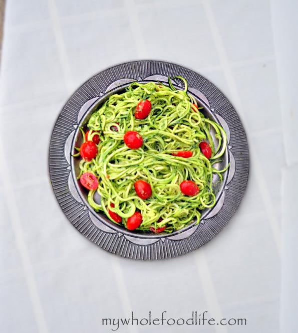 healthy advocare recipes - zucchini pesto pasta
