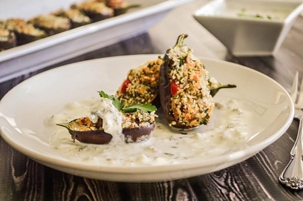 couscous recipes - couscous stuffed eggplant