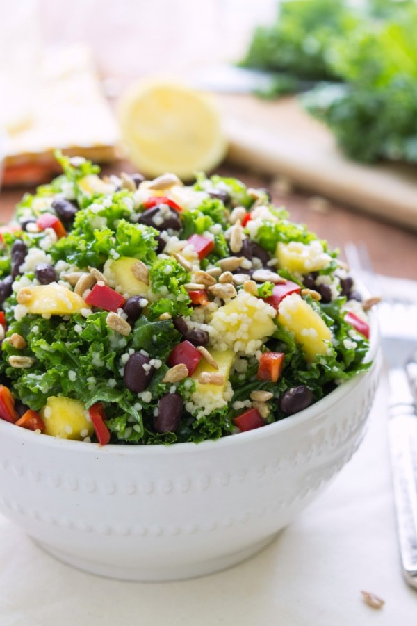 couscous salad - couscous kale salad