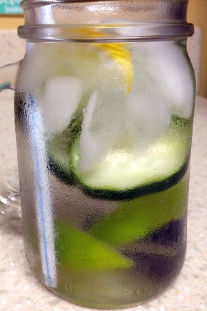 cucumber lime detox waters