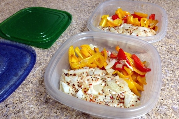 Chicken with Sweet Peppers & Onions lunch
