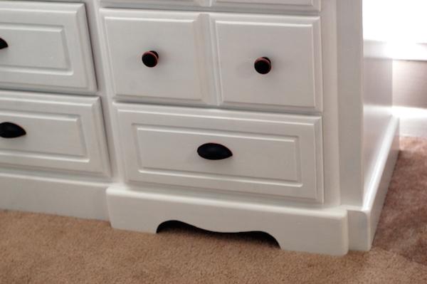 DIY White Painted Dresser