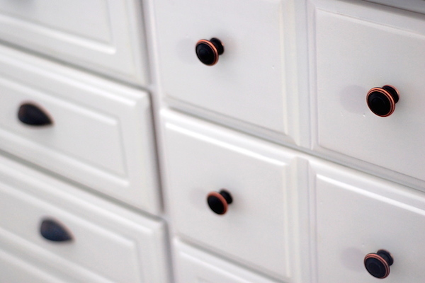 DIY White Painted Dresser Furniture