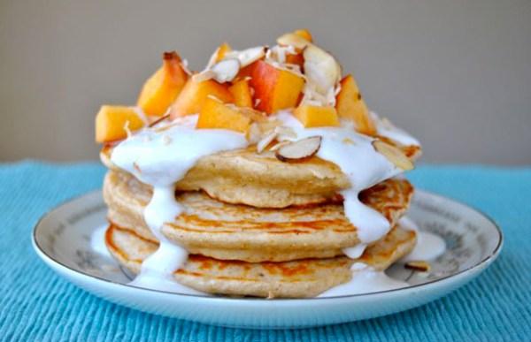Peaches-and-Cream-Protein-Pancakes