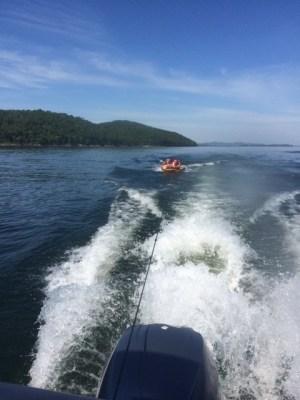 fun tubing on lake ouachita