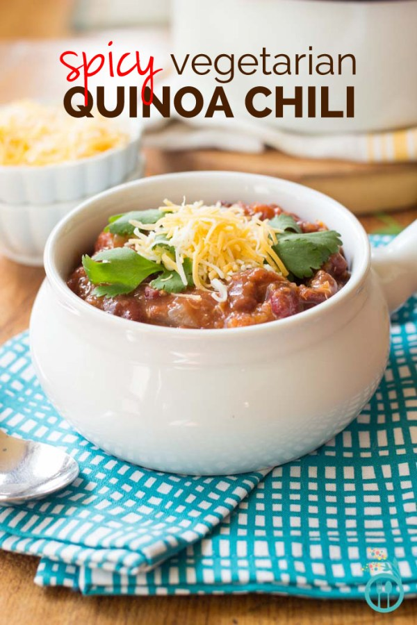 Slow Cooker Three Alarm Spicy Vegetarian Quinoa Chili by Simply Quinoa