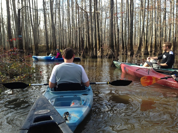 kayaking on the wolf river and ghost river trails