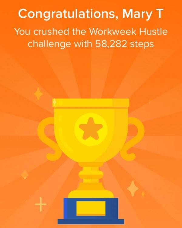 workweek hustle fitbit steps