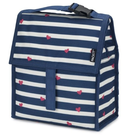 cool adult lunch box ideas - PackIt Freezable Lunch Bag with Zip Closure, Be Mine