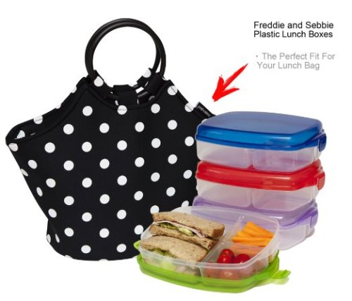 cool lunchbox - lunch bag by freddie and sebbie - reusable neoprene lunch box
