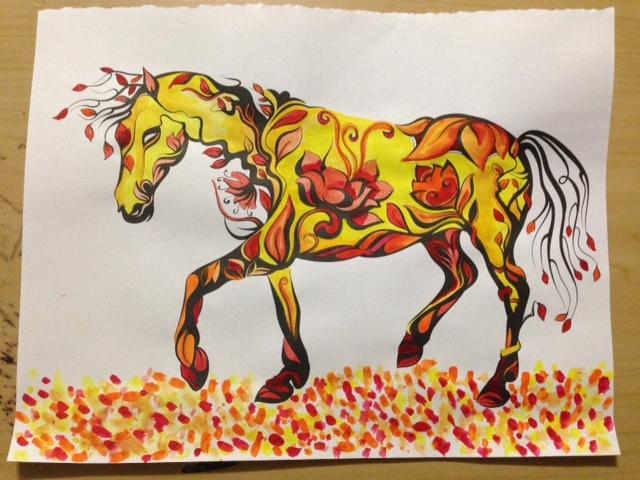 Sakura Watercolor Set Review adult coloring book page