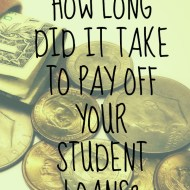 How long does it take to pay off student loans?
