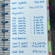 Debt Snowball Update – February 2019