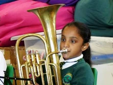 Woodside School pilot inspires new brass players