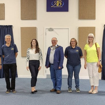 Local VIPs visit our bandroom